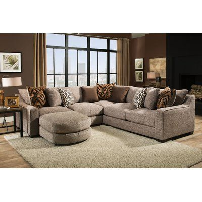 Awe Inspiring Darby Home Co Wilma Sectional Upholstery Color Homespun Ocoug Best Dining Table And Chair Ideas Images Ocougorg