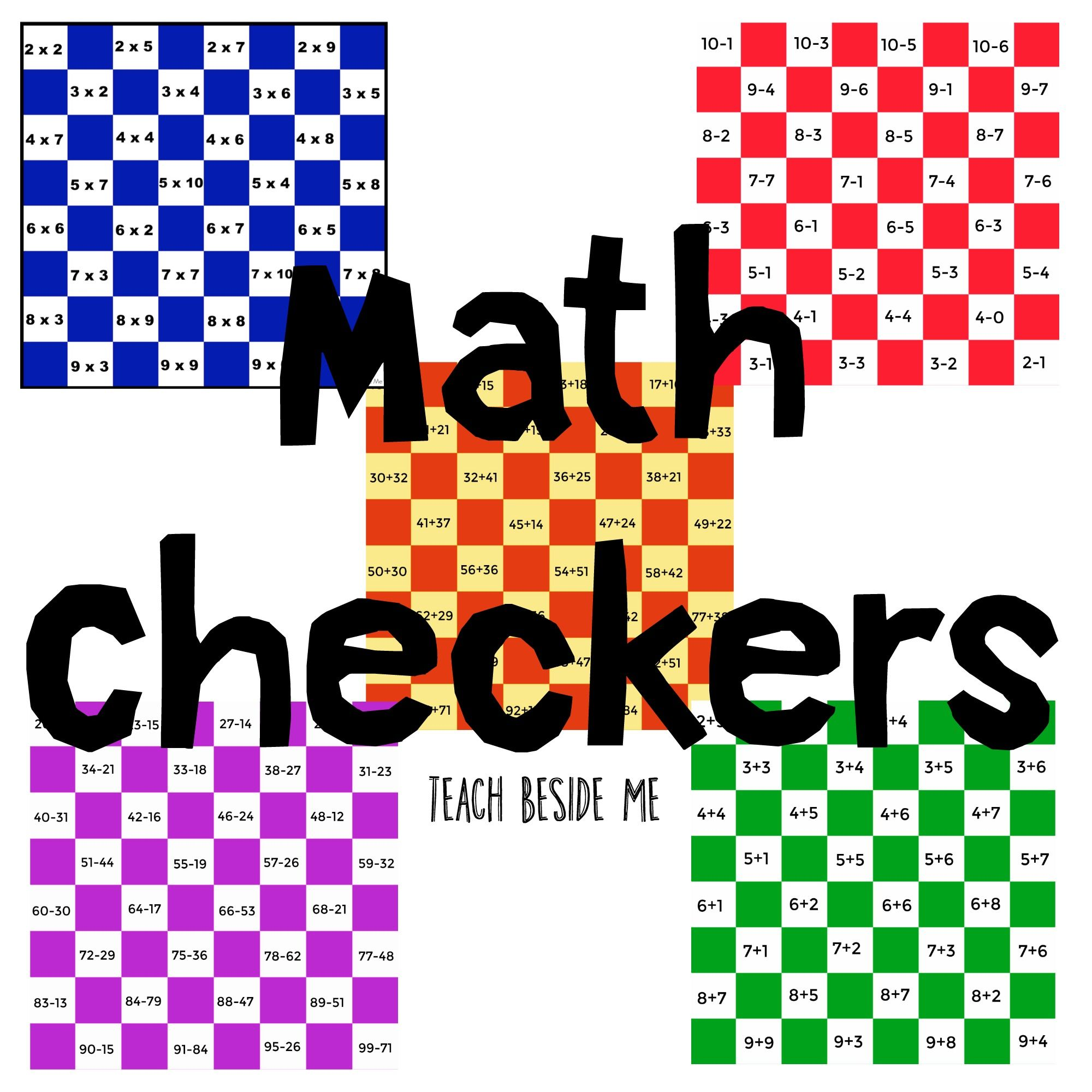 Math Checkers Bundle