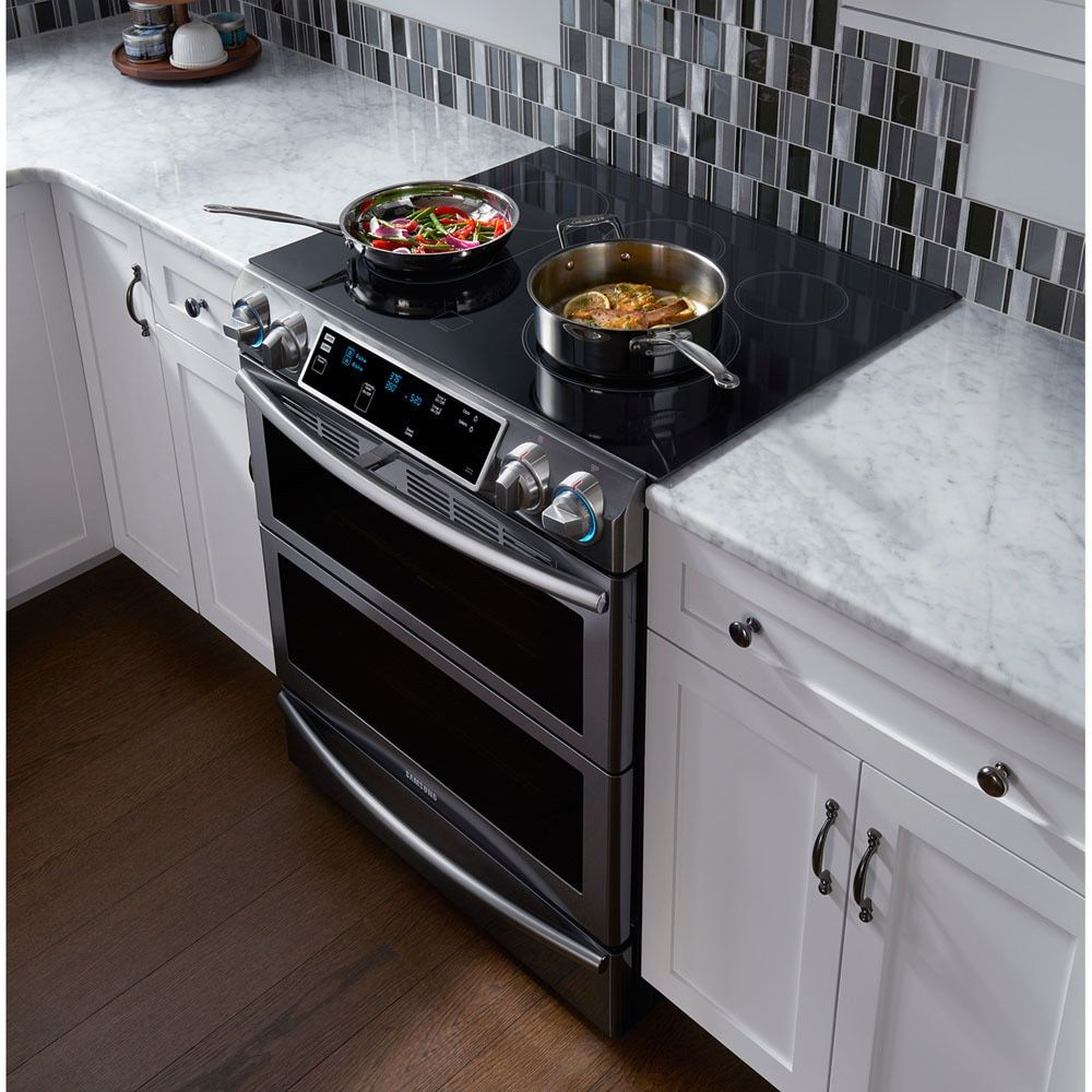 Kitchen Bar With Stove: Samsung 30-inch Flex Duo Slide-In Stainless Steel Electric
