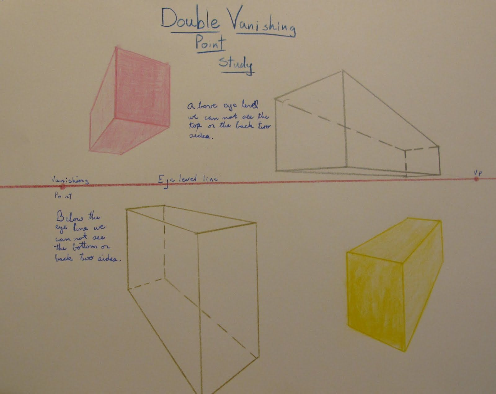 Waldorf 7th Grade Perspective Drawing Double