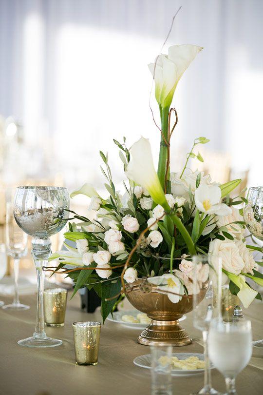 Wedding Reception Tablescape Centerpiece Flower Decor Callaway Gable via CeremonyBlog.com