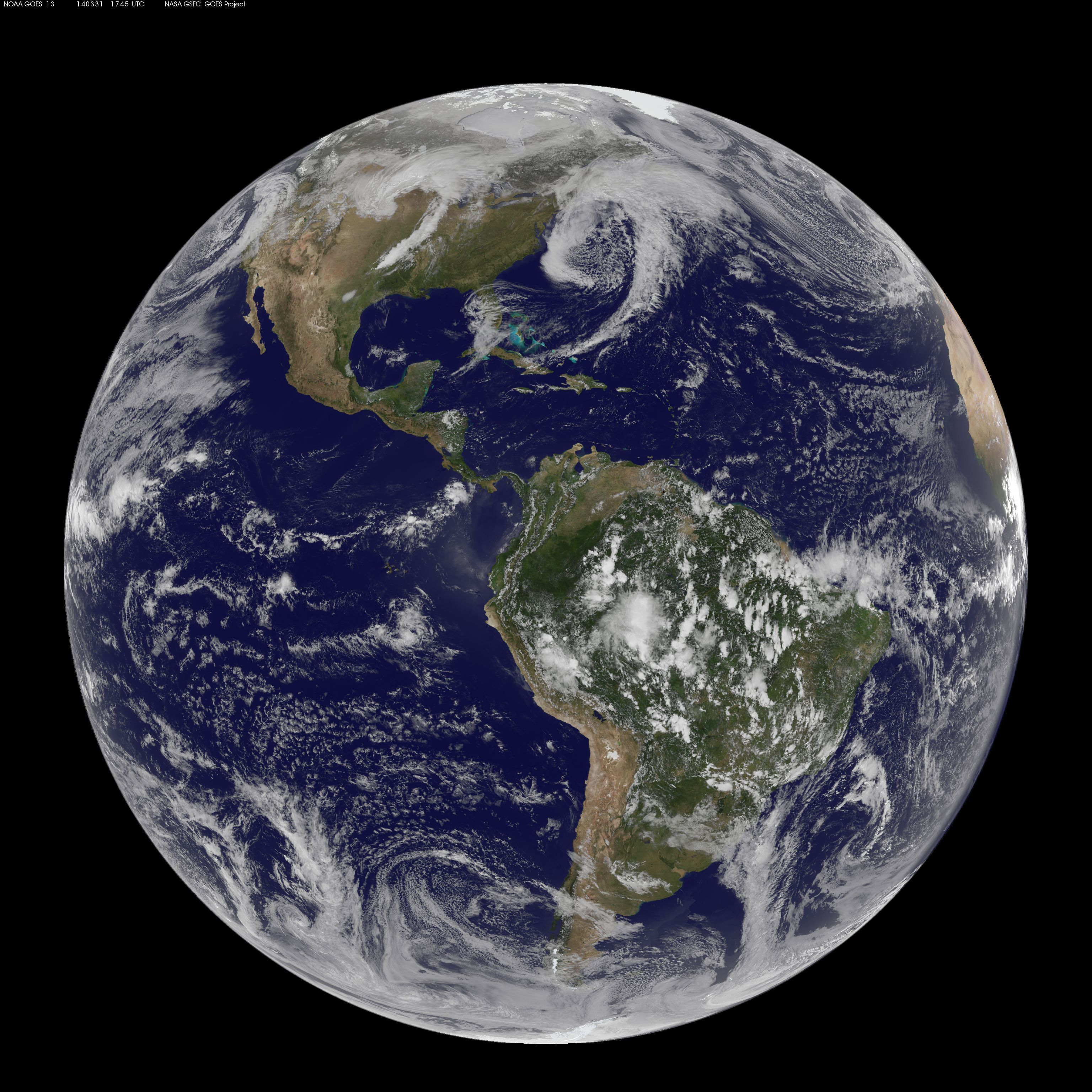 Three Atmospheric Dragons Low Pressure Areas Around The US - Earth satellite view 2016