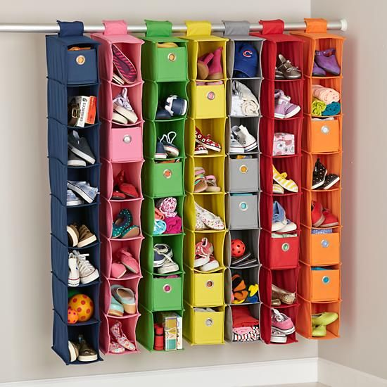 I Think I Canvas Wide Hanging Organizer (Red) In Closet U0026 Hampers | The  Land Of Nod