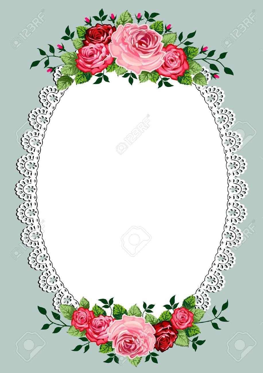 Oval Frame Vintage Stock Vector Illustration And Royalty Free Oval Frame Vintage Clipart Flower Frame Floral Border Design Oval Frame