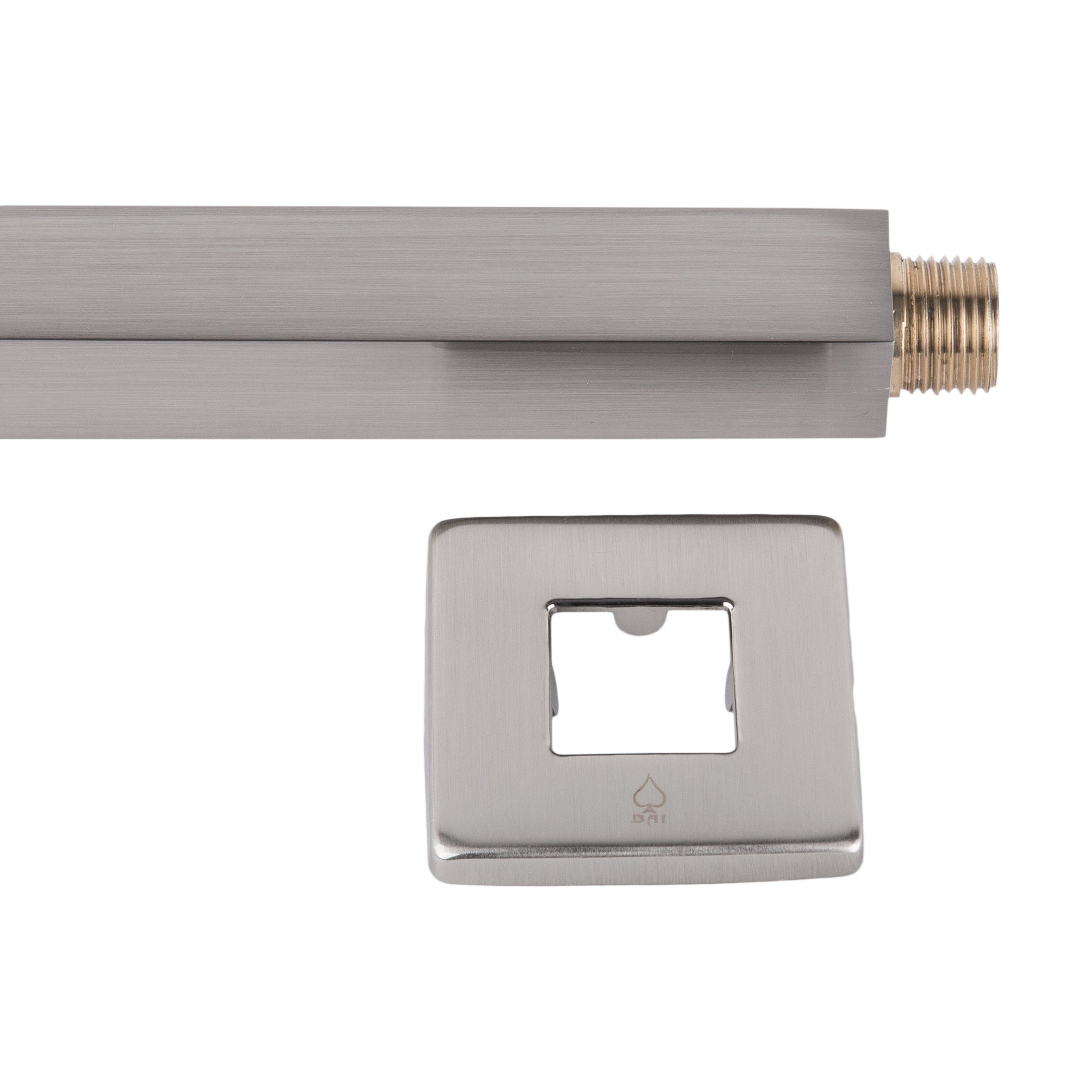 Bai 0448 Ceiling Mounted 14 Inch Shower Head Arm In Brushed Nickel