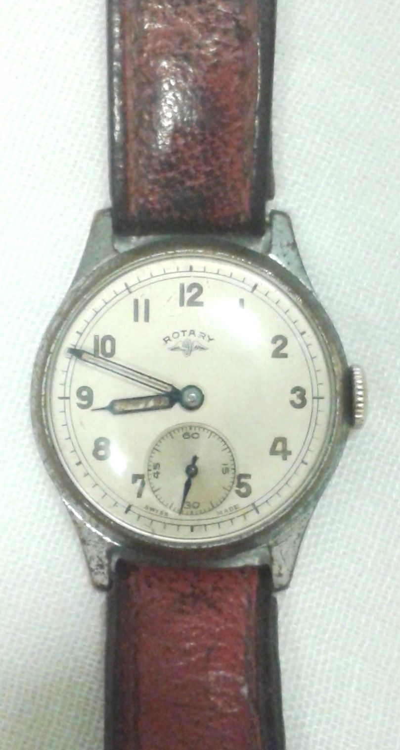 f31196218 Vintage rotary gents wrist watch 1940's leather strap | eBay ...