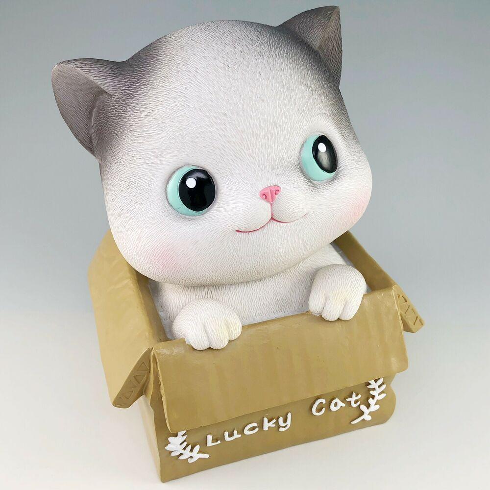 Lucky Cat Still Bank Kitten Coin Piggy Bank Baby Story Good Fortune Japan In 2020 Lucky Cat Cat Piggy Bank Cat Box