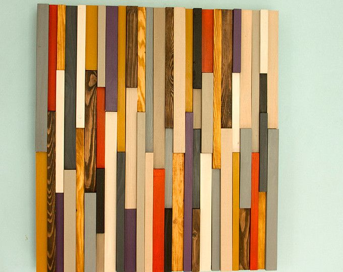 Sliced Wood Art - \'The Thicket\' - Abstract Wood Art - Floating ...
