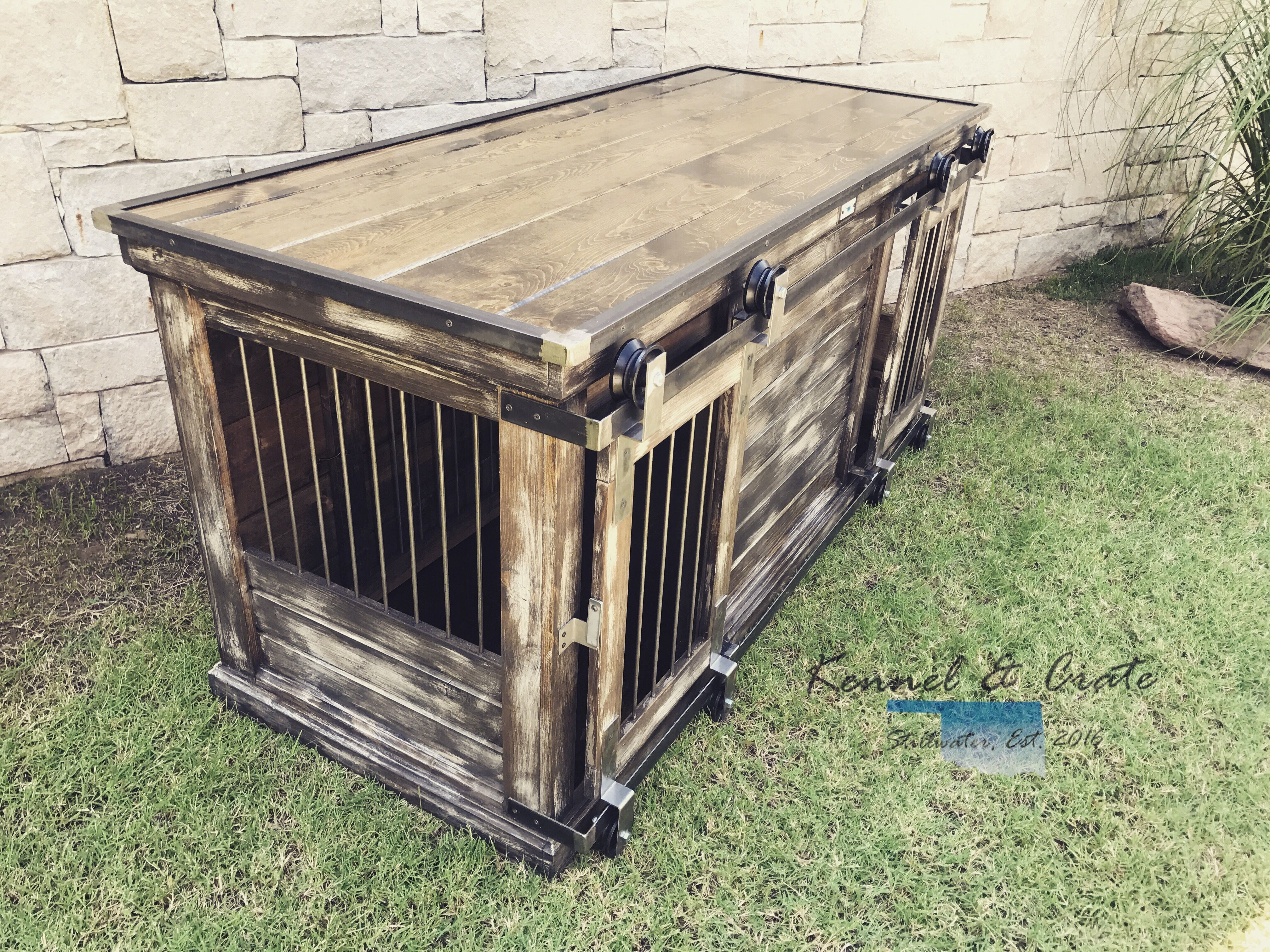 Designer Indoor Dog Kennels Replace Your Wire Dog Crate With A Beautiful Piece Of Functional Furniture Wire Dog Crates Luxury Dog Kennels Wooden Dog Kennels