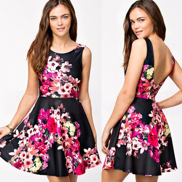 Lovely floral skater dress