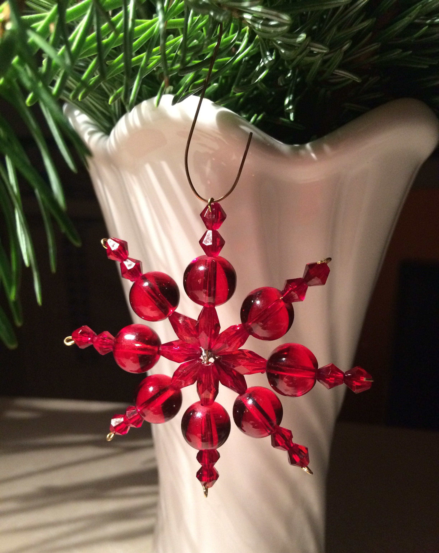 58c819cc9 Soni: vianočná hviezda Ručne Vyrobené Darčeky, Snehové Vločky, Advent,  Práca S Korálkami