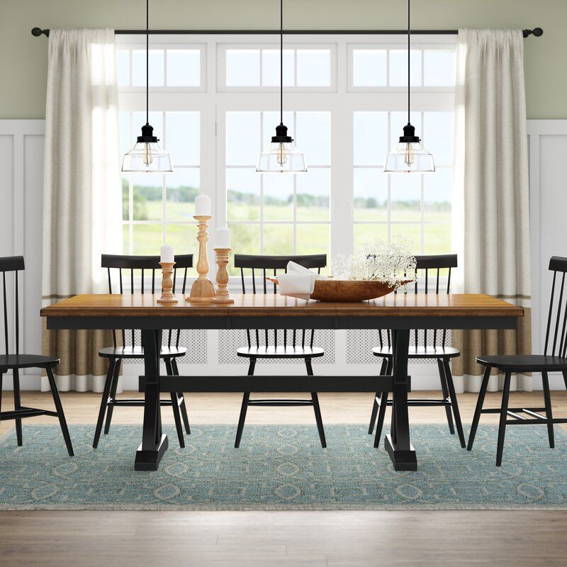 Courtdale Extendable Solid Wood Dining Table Solid Wood