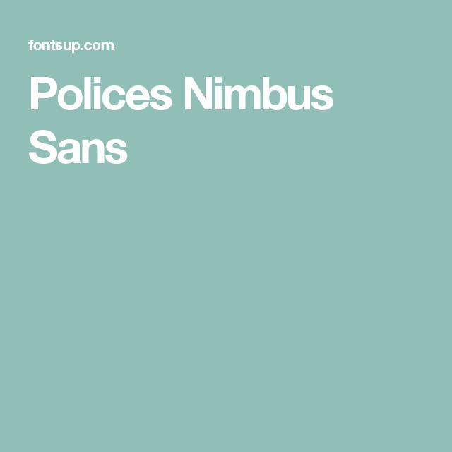 Polices Nimbus Sans
