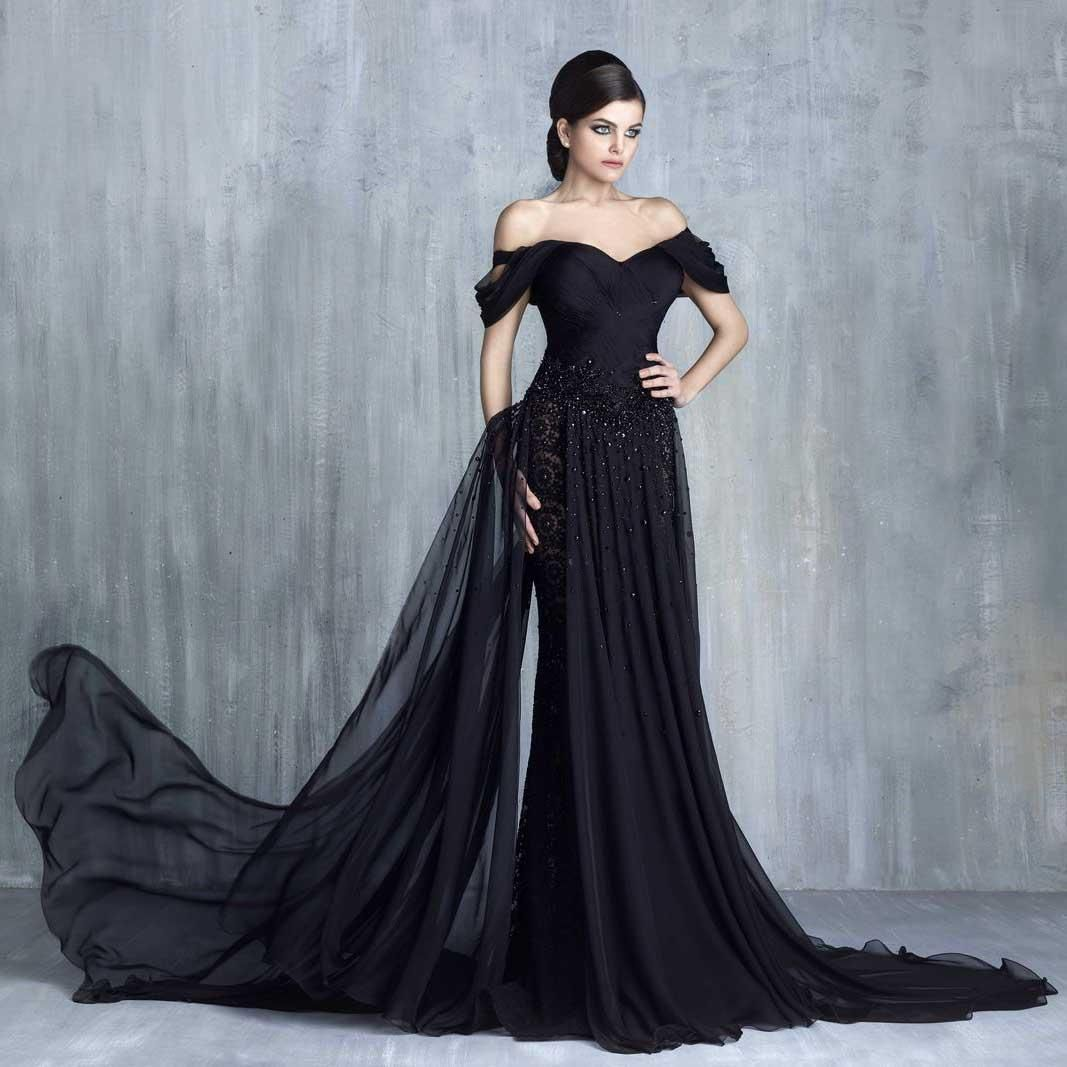 Stunning Black Formal Evening Dresses 2016 Sexy Off Shoulder Beaded ...