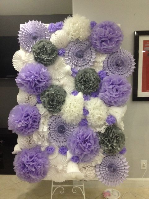 Our diy pom pom backdrop for photobooth wedding backdrop our diy pom pom backdrop for photobooth wedding backdrop background ceremony diy gray inspiration lavender lilac photo prop photobooth pom pom purple solutioingenieria Image collections