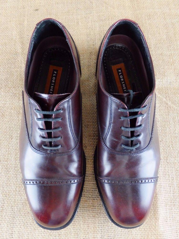 Leather shoes men, Cap toe oxfords