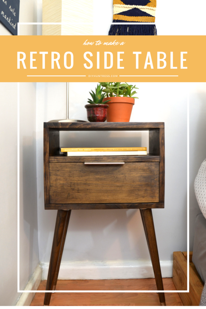 Diy Retro Side Table Retro Side Table Diy Furniture Projects