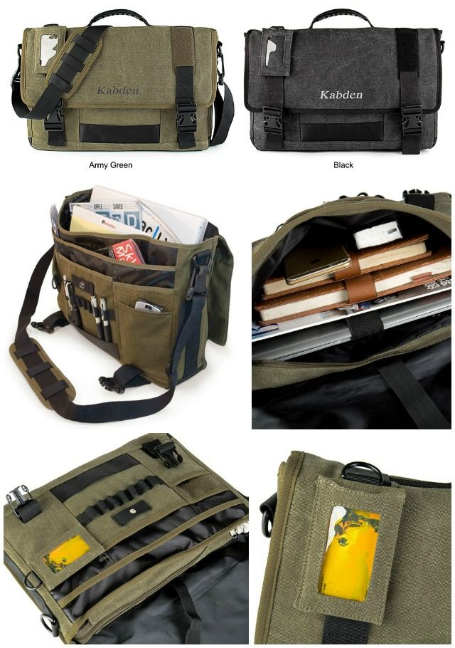 The Kabden Canvas Sling Bag Is Ideal Edc Its Large 10l Capacity Holds All Your Items Like Tablet Magazines Smartphone Notebook Cards And Pens