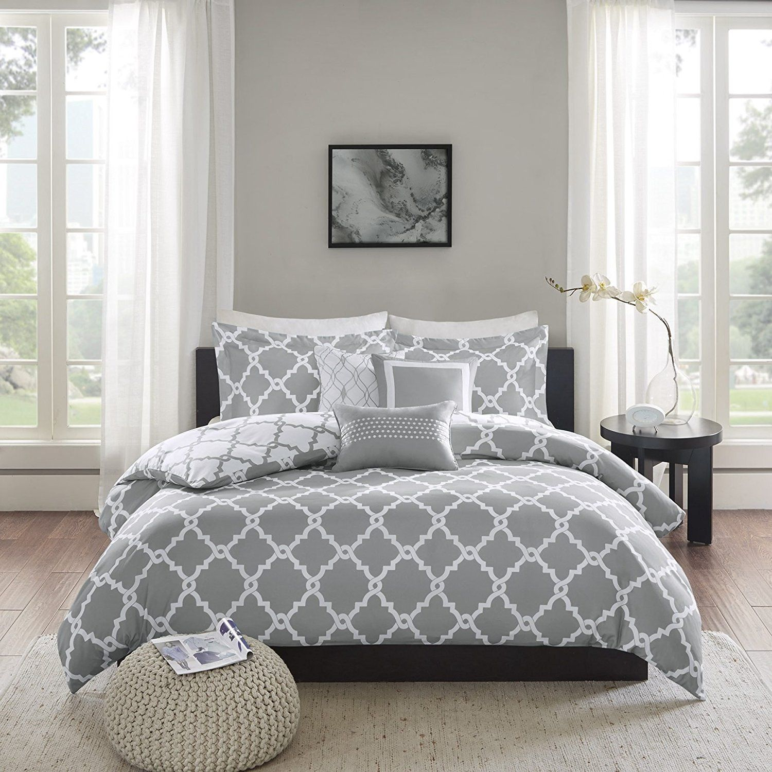 gray grey white covers cotton duvet cover and queen