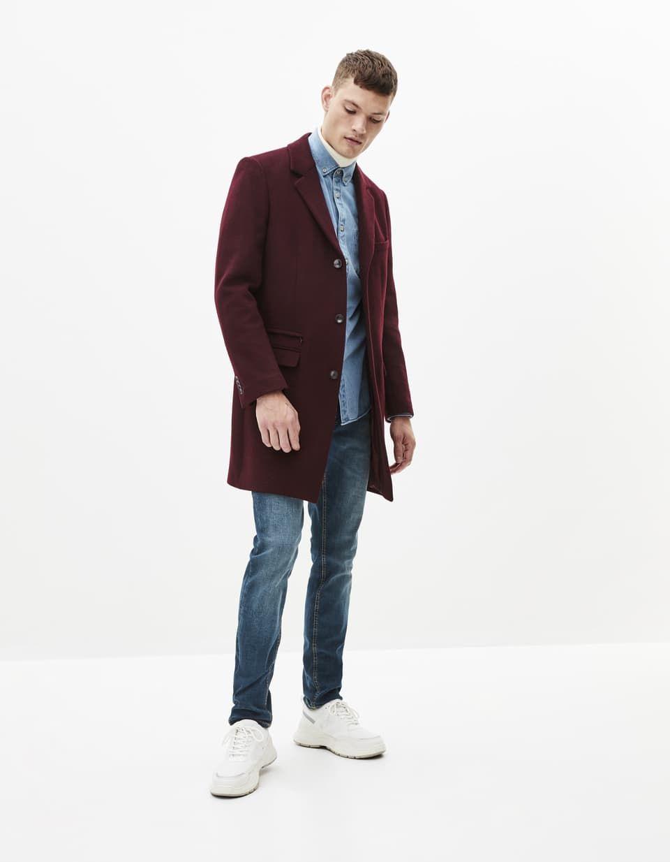 Manteau en laine mélangée PUCLASS Celio France