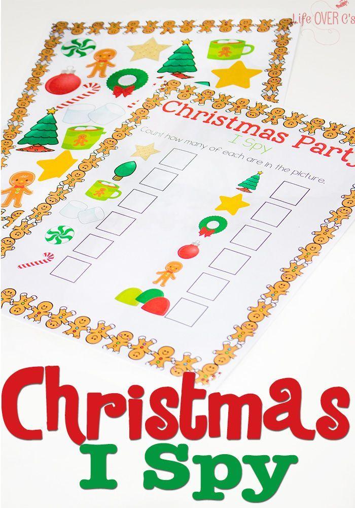 Christmas I Spy Free Printable Activity Preschool