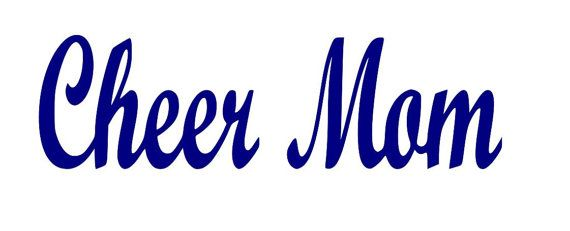 Cheer Mom Cut File Instant Download SVG Vector by