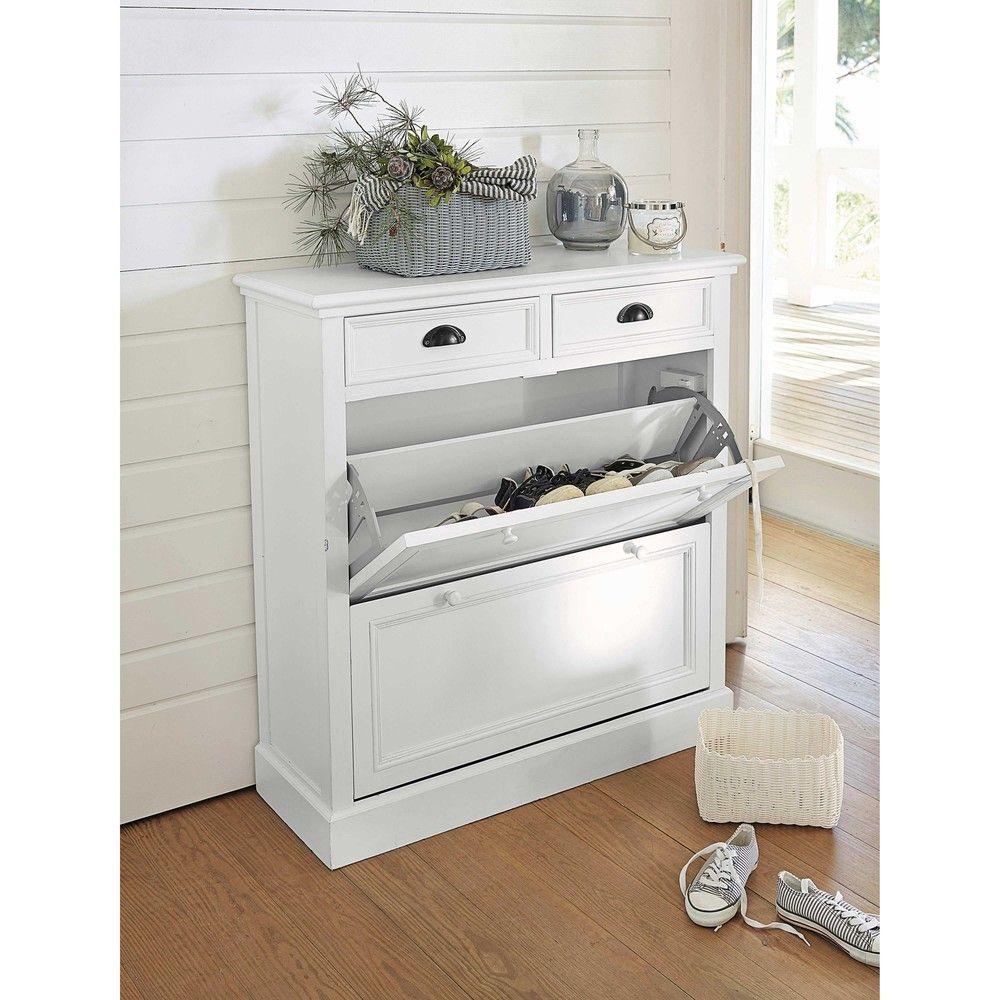 Schuhschrank Weiss B 90 Cm Deco Entree Shoe Cabinet White