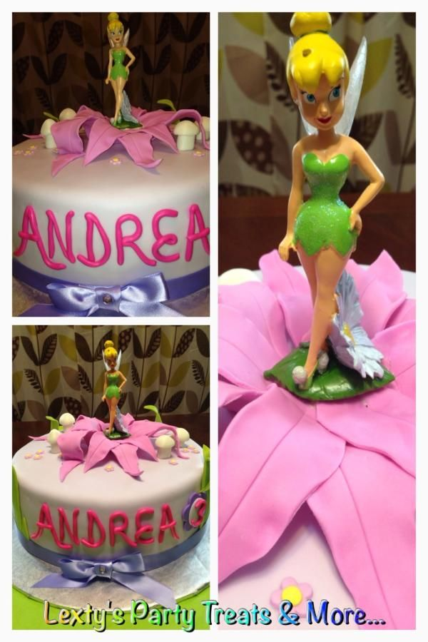 Tinker Bell Inspired - Cake by Lextyspartytreats