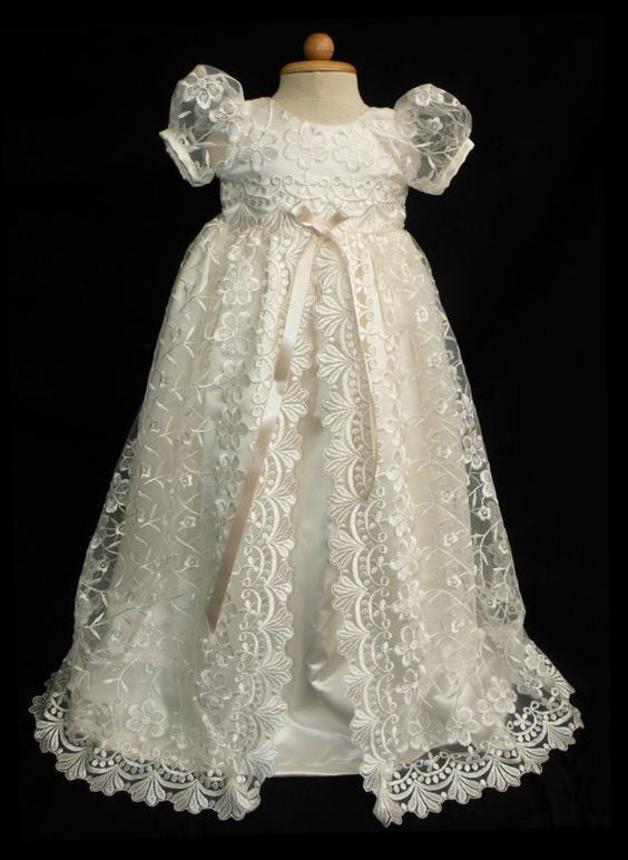 3 Home Decor Trends For Spring Brittany Stager: Stunning Off White Lace Christening Gown, Baptism