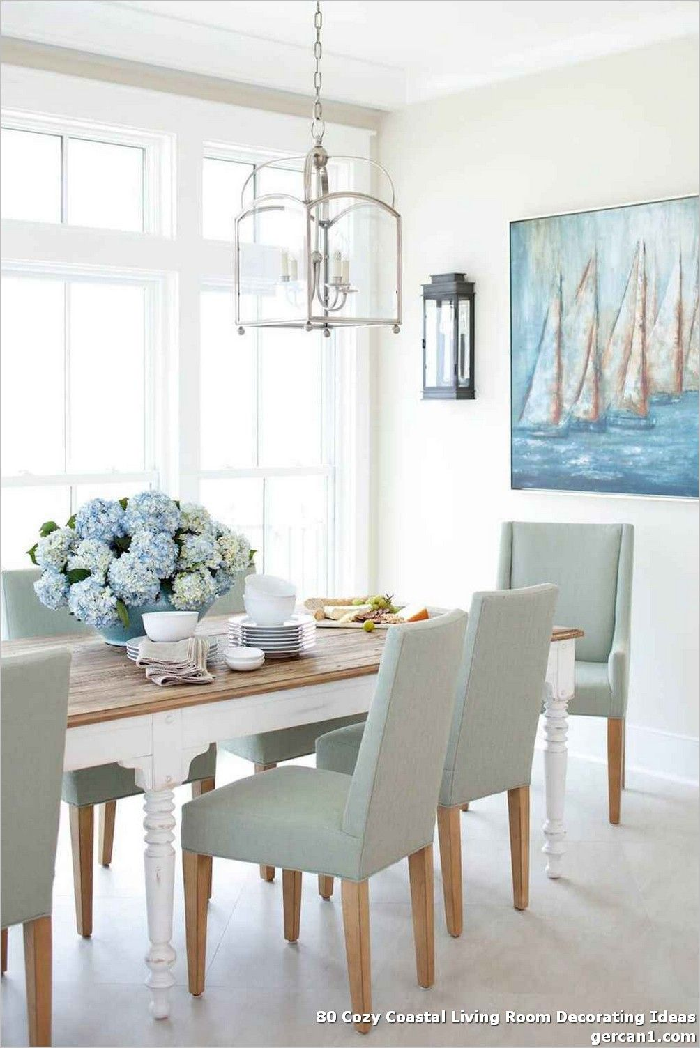 80 Cozy Coastal Living Room Decorating Ideas The Ocean Has Essentially The With Images Dining Room Design Modern Coastal Dining Room Table Beach House Interior Design