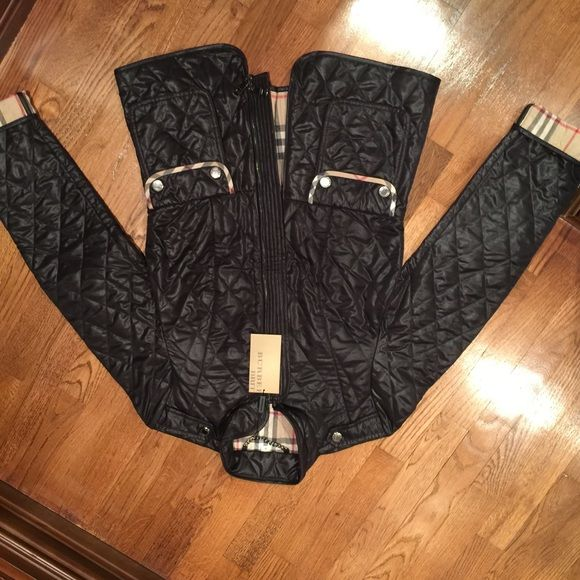 Burberry Brit jacket new with tags medium Black Quilted Burberry Brit jacket new with tags. Size medium. Fits a size 4-6. Burberry Jackets & Coats