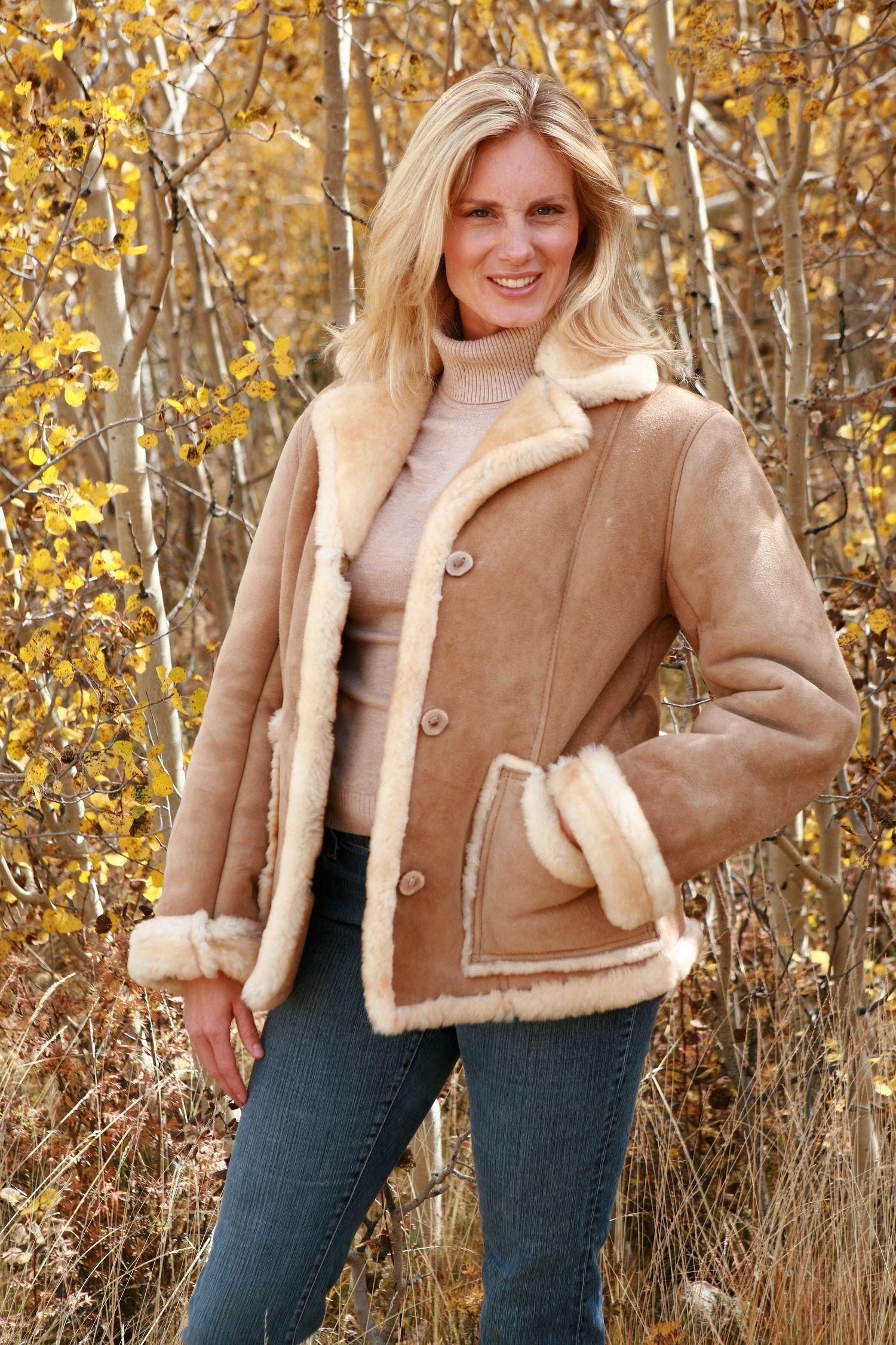 Image detail for Ladies Sheepskin Coat Shearling