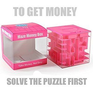 Amazon.com: Trekbest Money Maze Puzzle Box - Amazing Puzzle Box for Kids as Christmas Gift Birthday Gift (Pink): Toys & Games