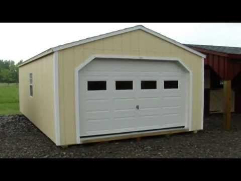 12' X 20' WOODEN PORTABLE GARAGE | SHEDS | GARDEN SHEDS ...