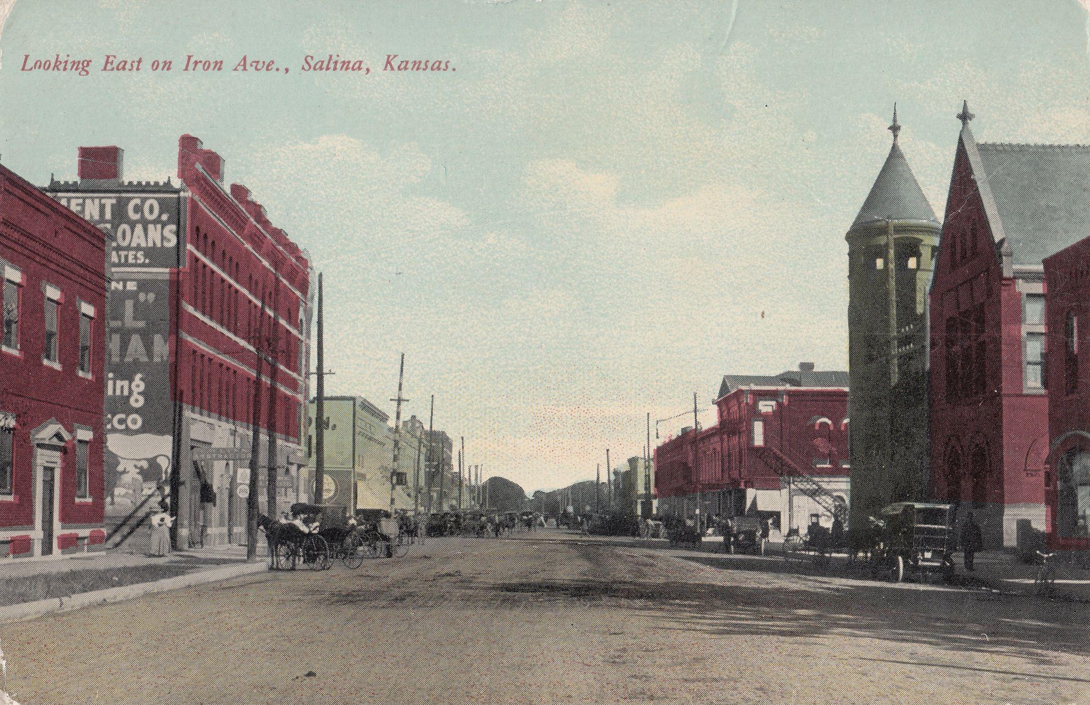 Looking East On Iron Avenue Salina Kansas Salina Kansas Kansas Salina
