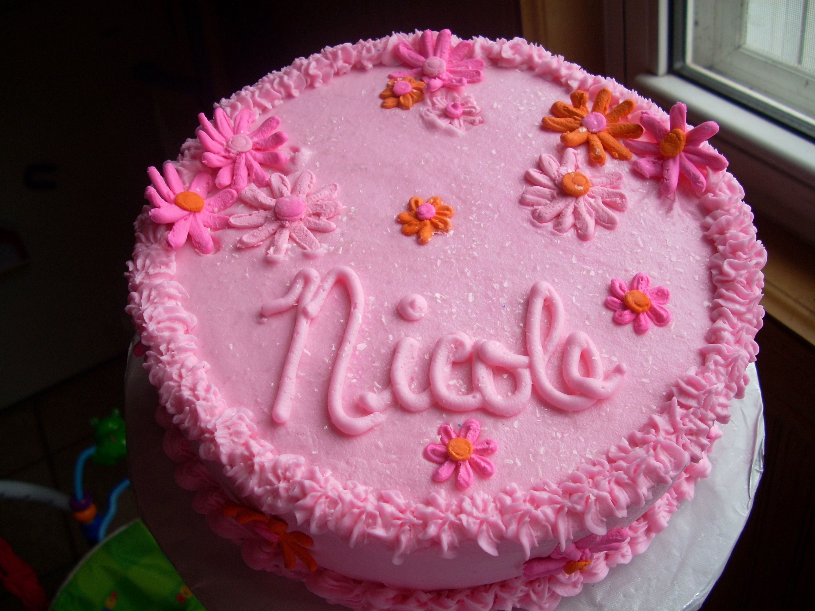 Birthday Cakes Images With Name And Photo ~ Happy birthday nicole cake happy birthday name cakes