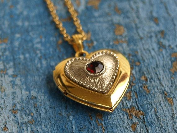 Vintage Heart Locket Avon by SallysBackyard on Etsy, $15.00