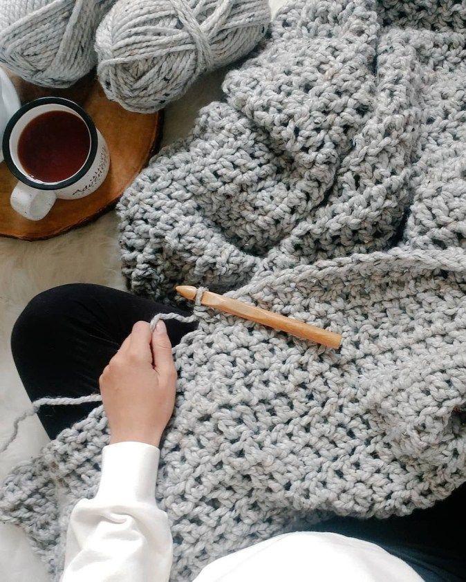 Photo of #crochet patterns blanket chunky Super Chunky Crochet Blanket Pattern Free Croch…