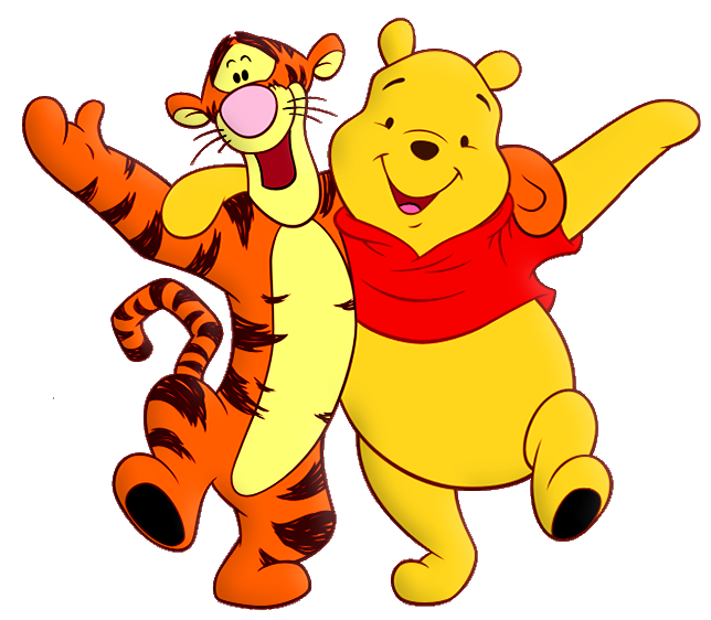 Winnie the Pooh and Tiger Cartoon PNG Free Clipart | clip ...