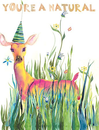Nature deer youre a natural watercolor card by masha dyans design nature deer youre a natural watercolor card by masha dyans design bookmarktalkfo Image collections