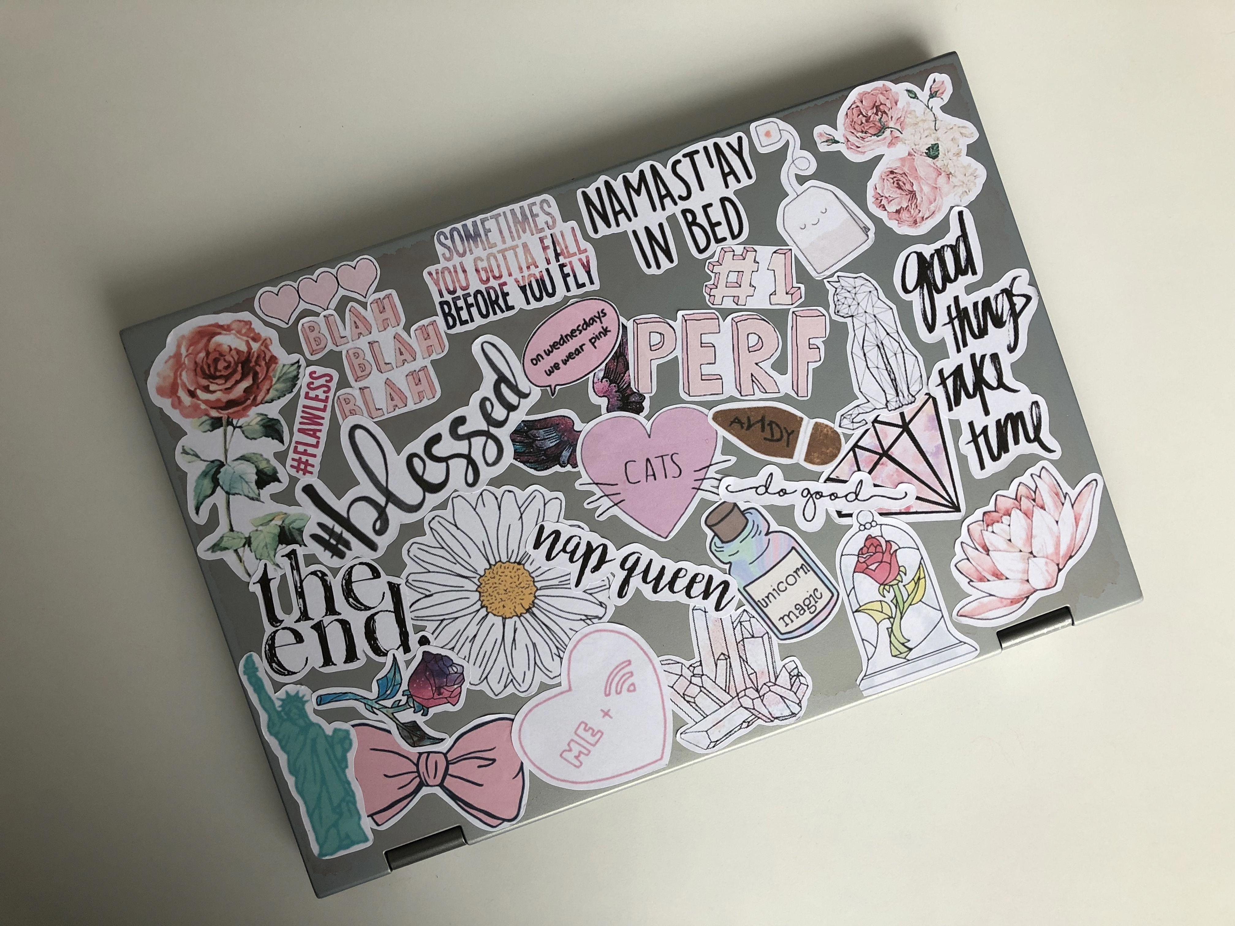 #laptop #stickers #sticker #girlystuff #pink #tumblr #dell ...