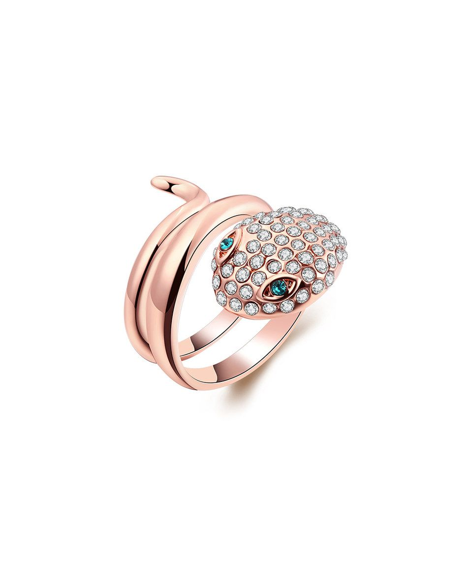 Another great find on #zulily! Cubic Zirconia & Rose Gold Snake Ring by Riakoob #zulilyfinds