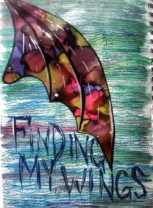 Finding My Wings art journal page by Taexalia. Art Every Day Month #aedm2014 #aedm