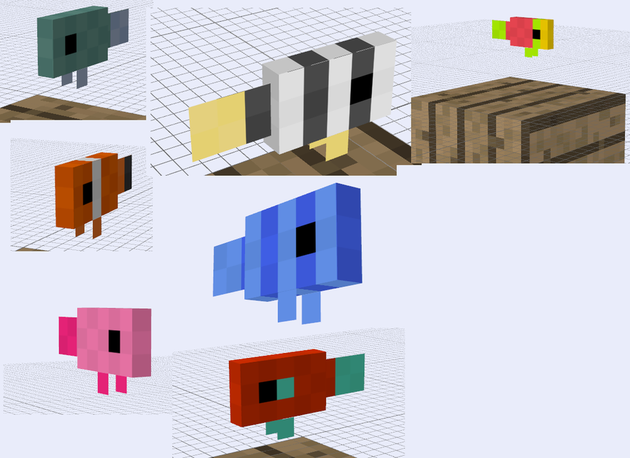 Minecraft Mob Ideas Fish By Redpanda7 On Deviantart Minecraft Mobs Minecraft Minecraft Tutorial