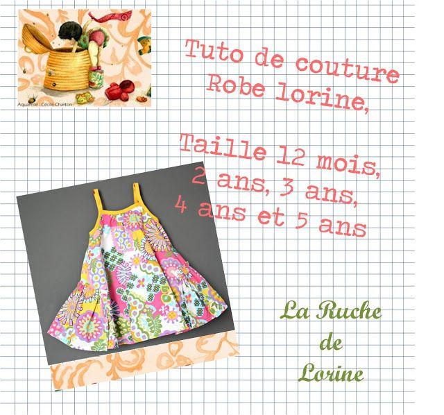 La ruche de Lorine: Patron de la robe Lorine | Sewing - Kids Clothes ...