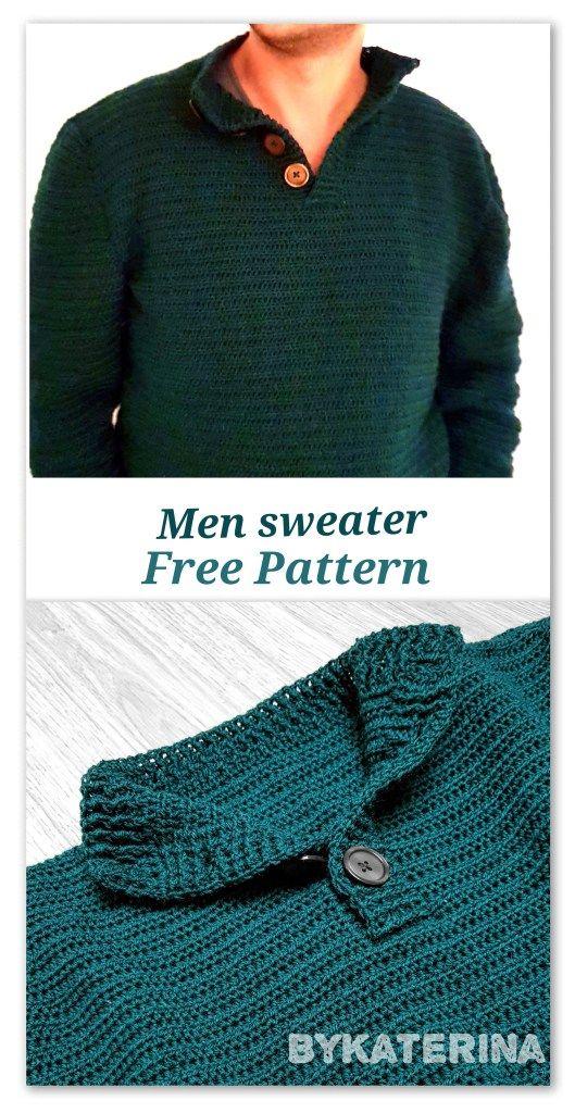 Men can also wear crochet: Men sweater | Pinterest | Herrin und Häkeln