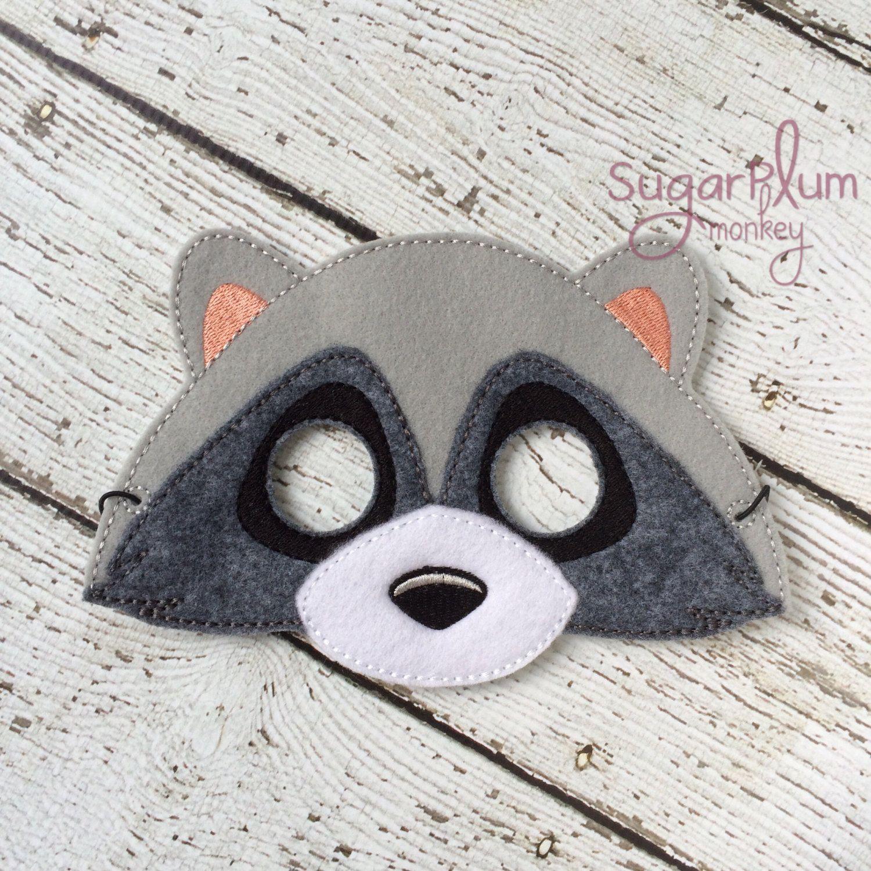 New to SugarPlumMonkey on Etsy Raccoon Mask