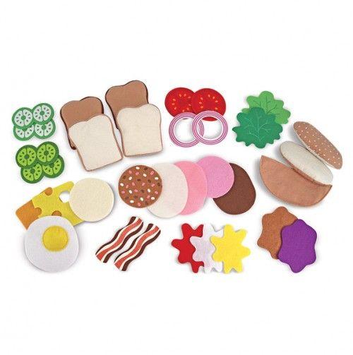 Felt food sandwich set. So much fun for the kids!