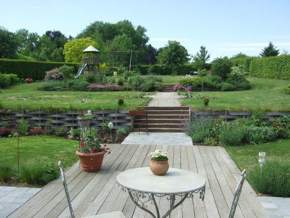 Vues d\u0027ensemble - Le Jardin de Bene terrain en pente Pinterest