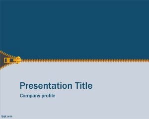 Free Zip Powerpoint Template With Blue And Light Blue Color